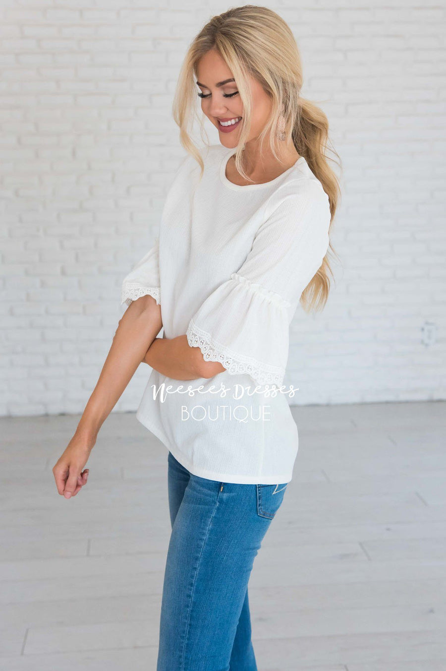 Just One Wish Bell Sleeve Top