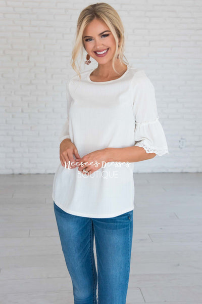 Just One Wish Bell Sleeve Top Modest Dresses vendor-unknown
