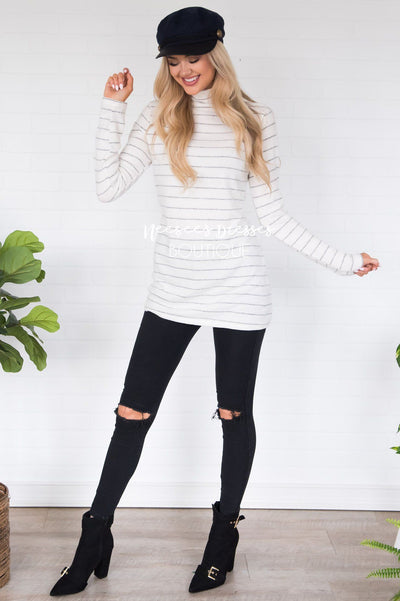 Happy Times Striped Top Modest Dresses vendor-unknown