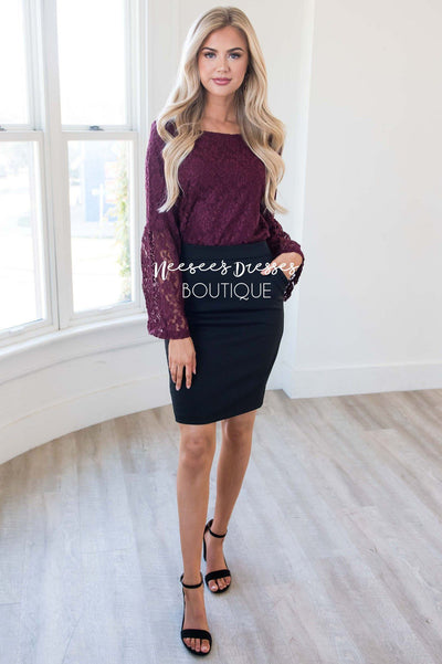 Love Buzz Lace Bell Sleeve Blouse