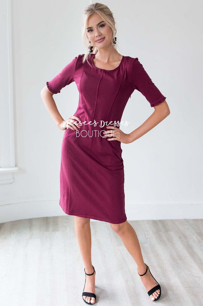 The Brianna Ruffled Sleeve Dress Modest Dresses vendor-unknown