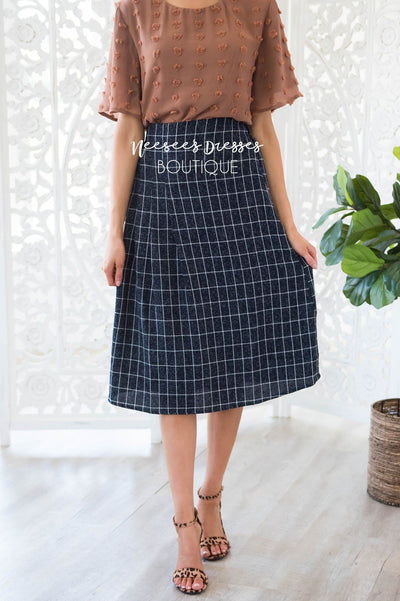You Had Me at Plaid Skirt Modest Dresses vendor-unknown