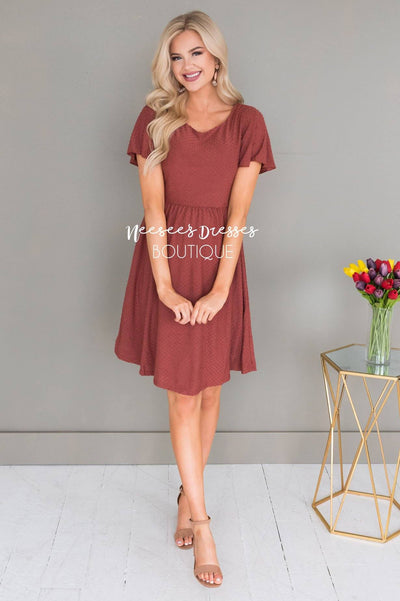 The Zoey Swiss Dot Modest Dresses vendor-unknown