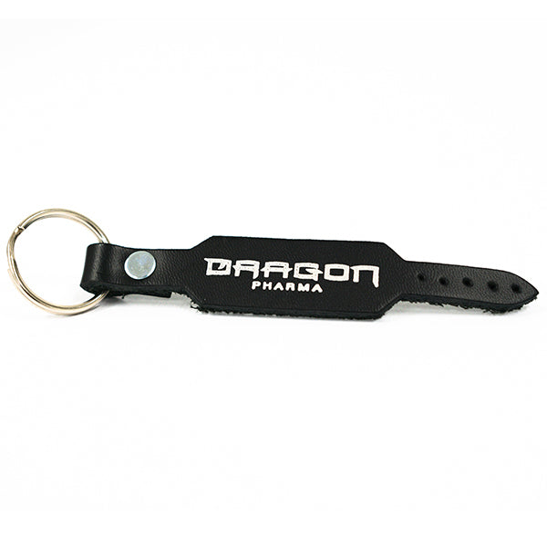 Black Weight Lifting Belt Keychain