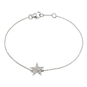 White Gold Diamond Star Bracelet