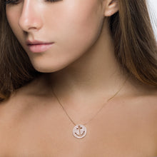 Rose Gold Diamond Anchor Cut Out Pendant