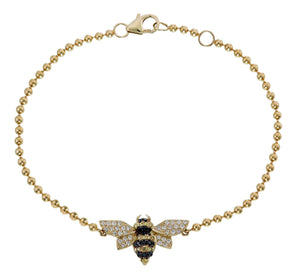 DIAMOND AND SAPPHIRE BEE BRACELET