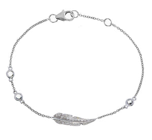 DIAMOND AND SAPPHIRE FEATHER BRACELET