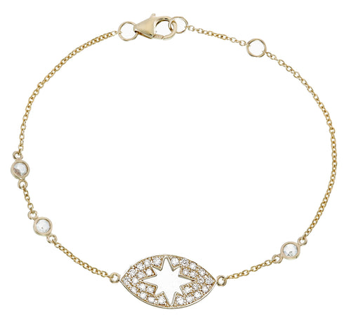 DIAMOND STARBURST EYE BRACELET