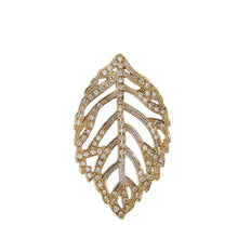 Yellow Gold Diamond Leaf Pendant
