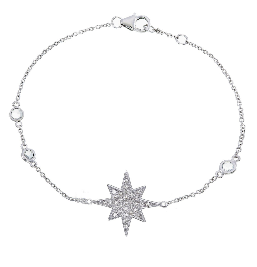 DIAMOND AND SAPPHIRE STARBURST BRACELET
