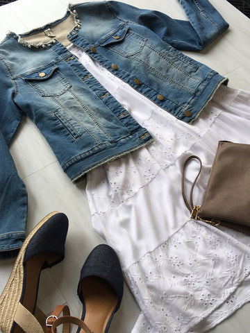 Sundress and Denim Jacket Get The Look