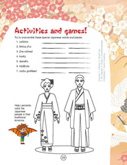 kids' travel guide Japan Sample page
