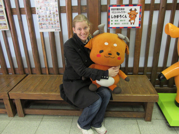Meeting Shika Maru-kun, the Mascot of Nara