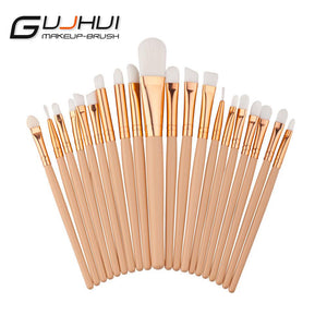 Hot Sale 20pcs Soft Synthetic Hair make up tools kit Cosmetic Beauty Makeup Brush White Sets pinceaux de maquillage #609