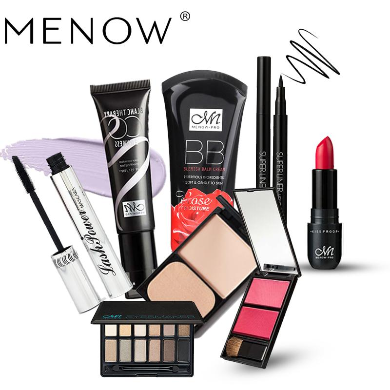 MENOW Brand Make up set Eye Shadow & Blush & Lipstick & Mascara & Eyeliner & BB Cream & Foundation & CC Cream Cosmetic ZA01