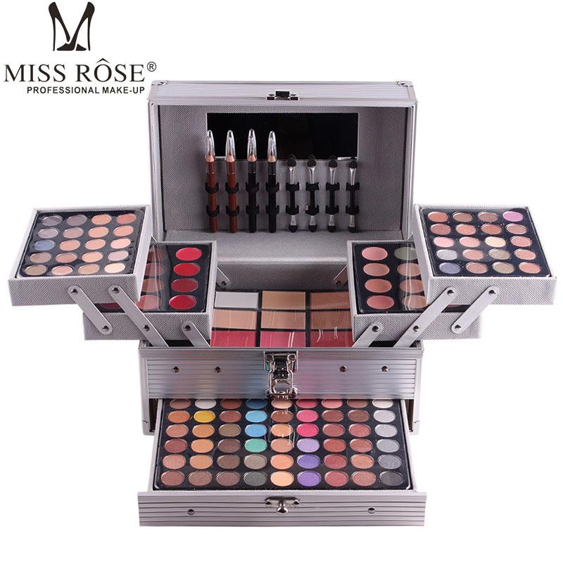 MISS ROSE Professional Full Makeup Sets Waterproof Eyeshadow Powder Blush Lipstick Palette Makeup Box Kits Brand Cosmetic Tools