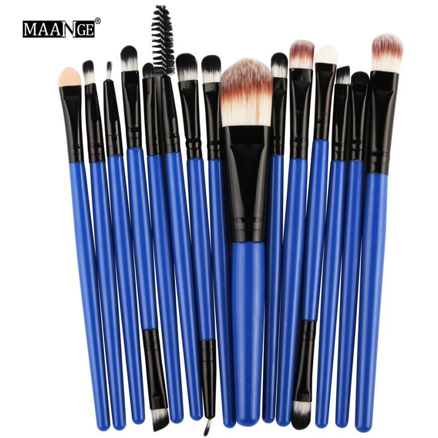 2017 15pcs Cosmetic Makeup Brush Blusher Eye Shadow Brushes Set Kit GD professional beleza pinceaux maquillage