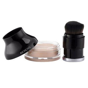 Natural Women Skin Face Makeup Concealer Cream Foundation Cover-Flaw Spot Ance Scar Dark Circle Lines with Brush