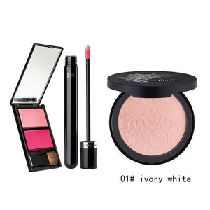 MENOW Brand Make up set  Natural Blush Plate &High quality Face Matte Powder  & moisturizing Lip gloss  Wholesale 5387