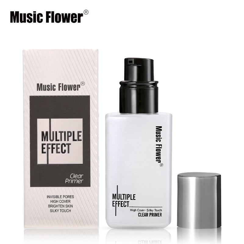 Music Flower Brand Makeup Face Primer Gel Make Up Base Facial Clear Primer Cream Silky Touch High Cover Invisible Pores Shrink