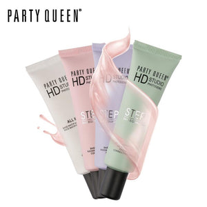 Party Queen Face Care Primer Foundation Makeup HD Base Smooth Corrector Moisturizing Brighten Concealer Oil-Free Matte Finish
