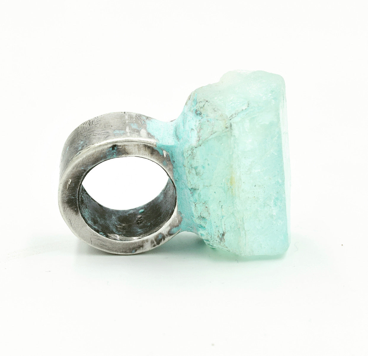 Jill Herlands Sterling Silver and Aquamarine Ring