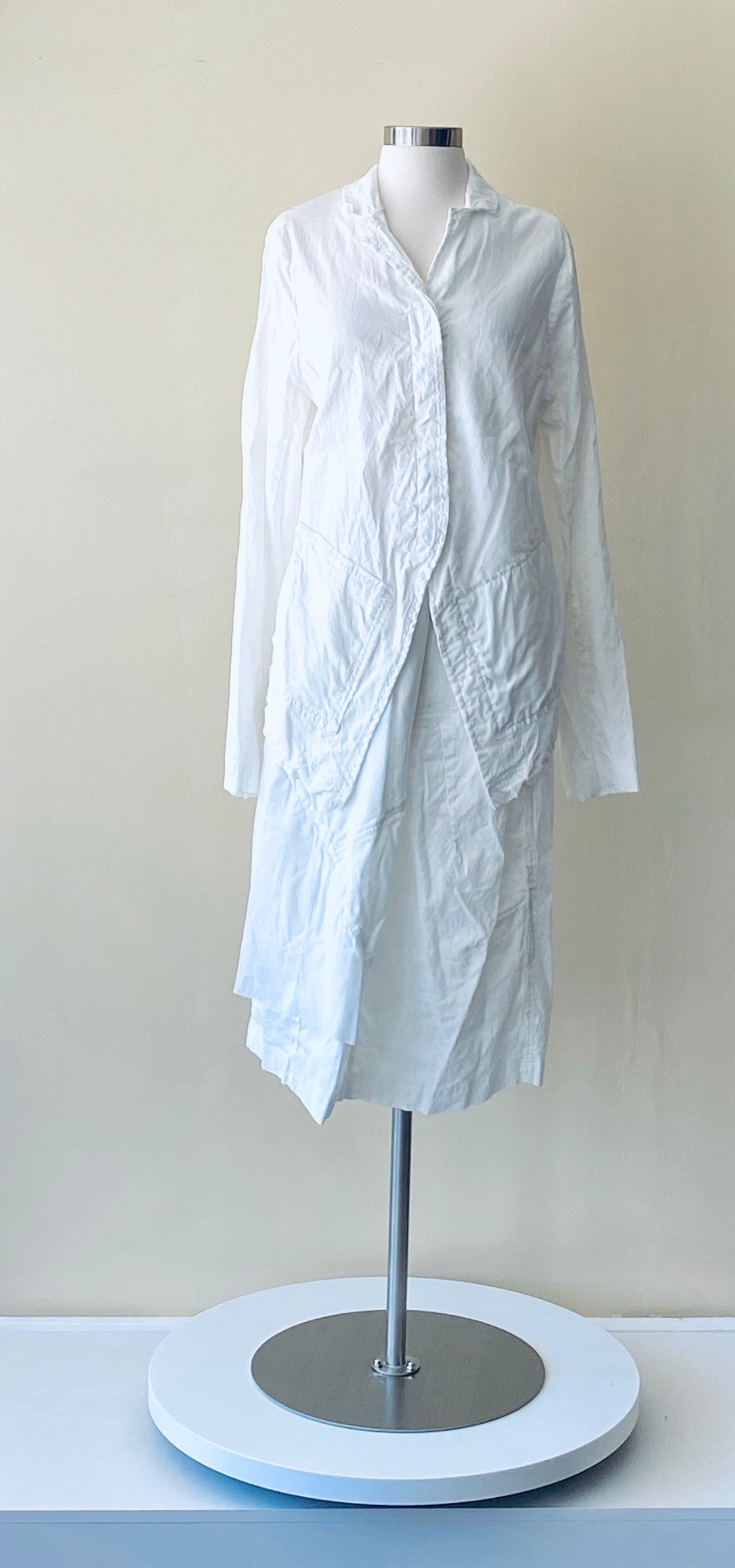 Rundholz White Linen/Cotton and Silk Jacket