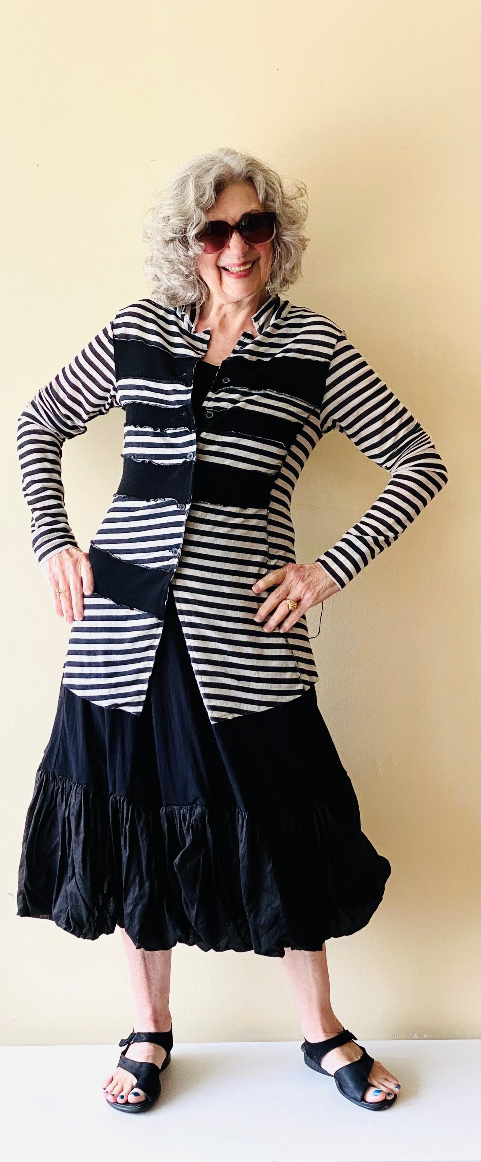 Rundholz Black and Oat Stripe Sweater