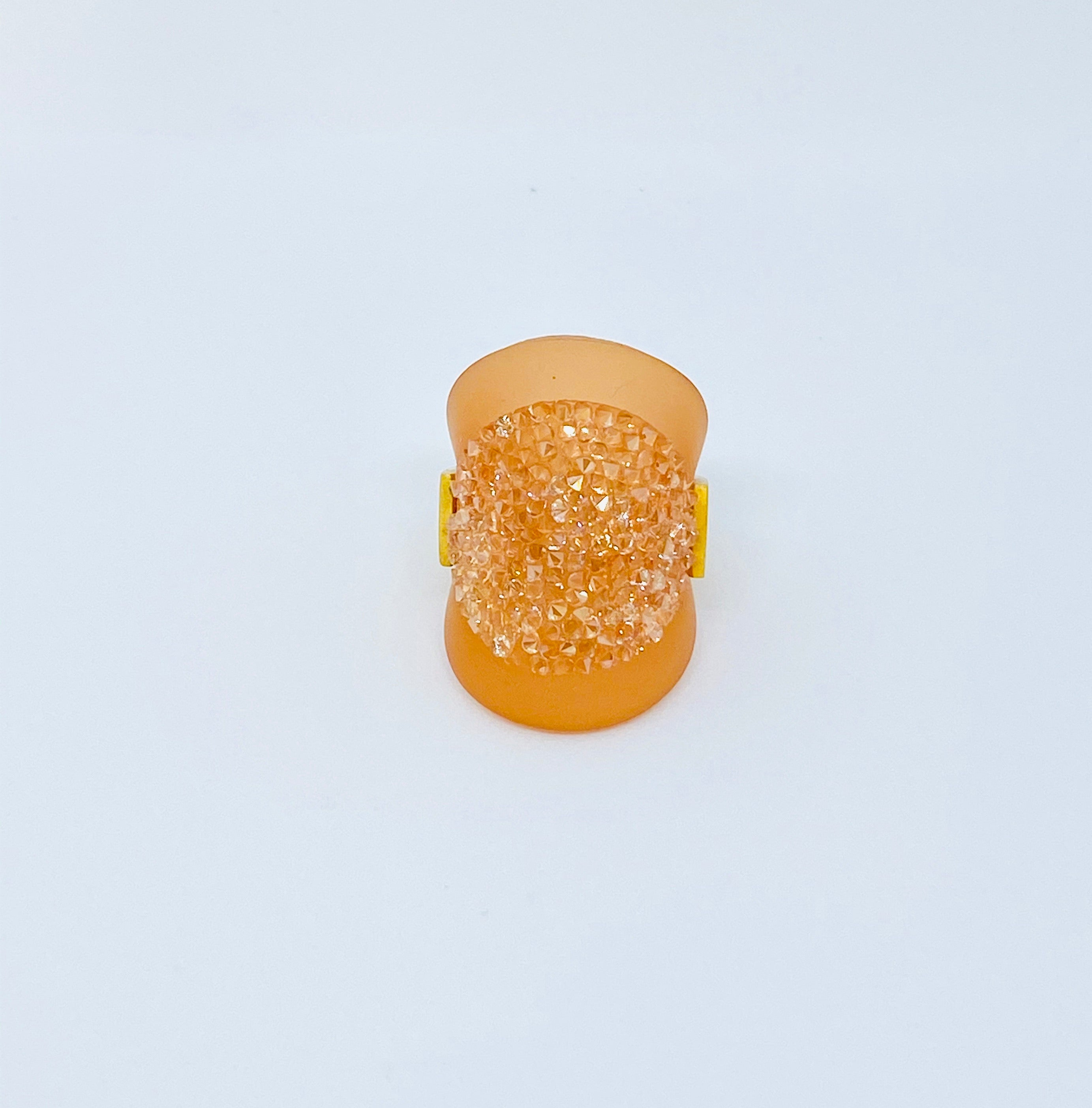 P.M Rose Gold Crystal Ring Tangerine