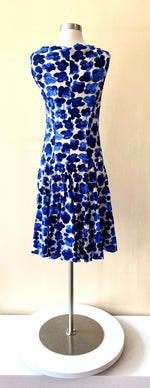 Load image into Gallery viewer, Anett Roestel Berlin Blue Flower Jersey Dress
