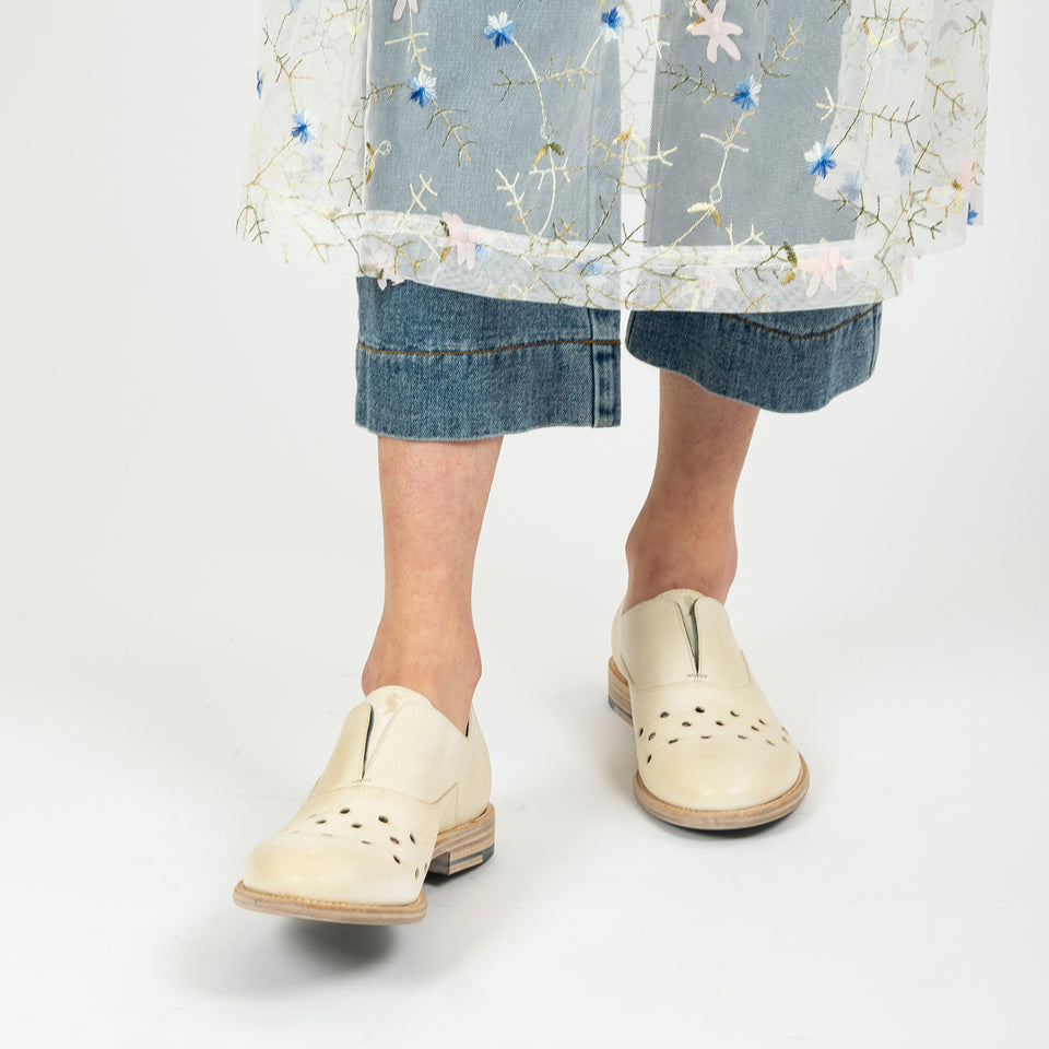 Nude Perforated Oxfords