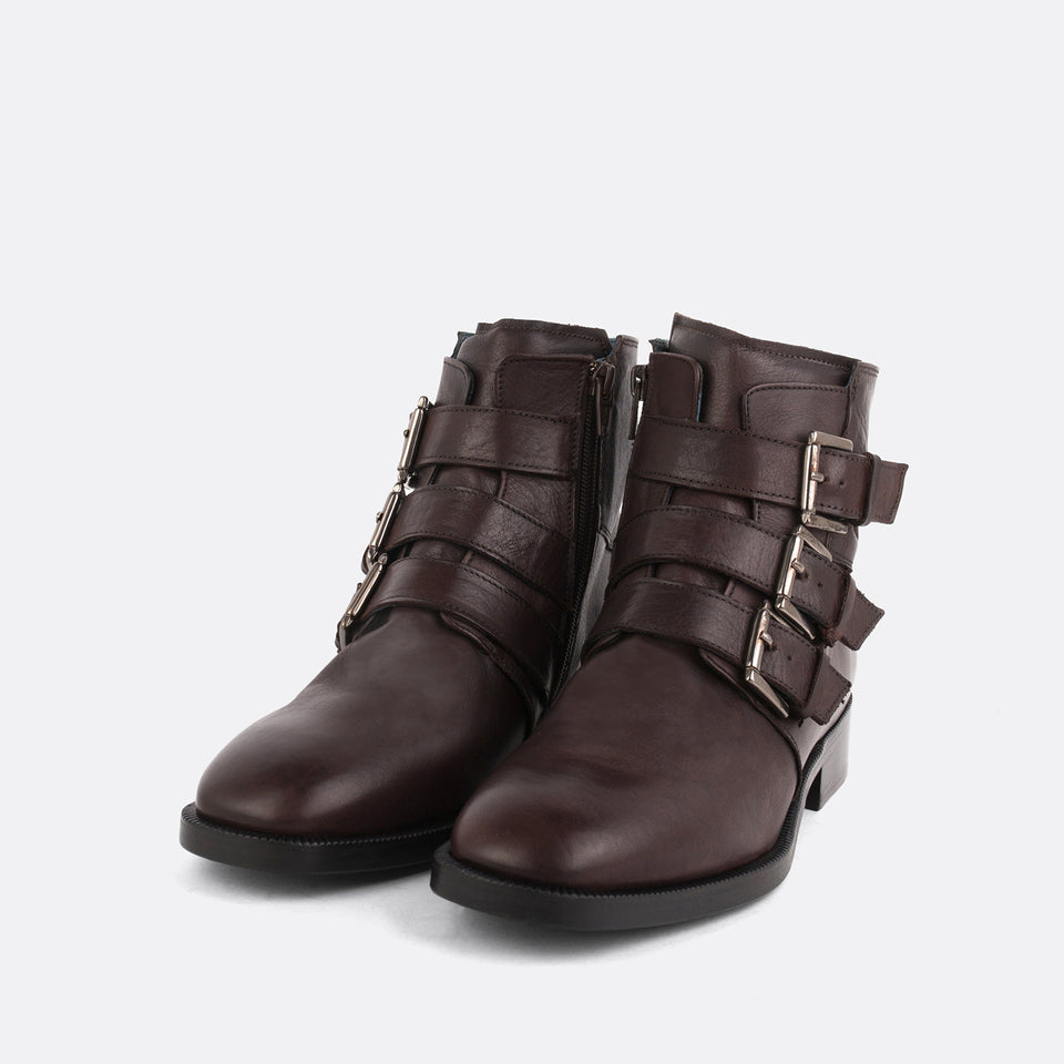Brown Triple Monk Boots