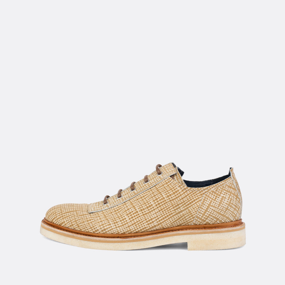 Camel Printed Derbies