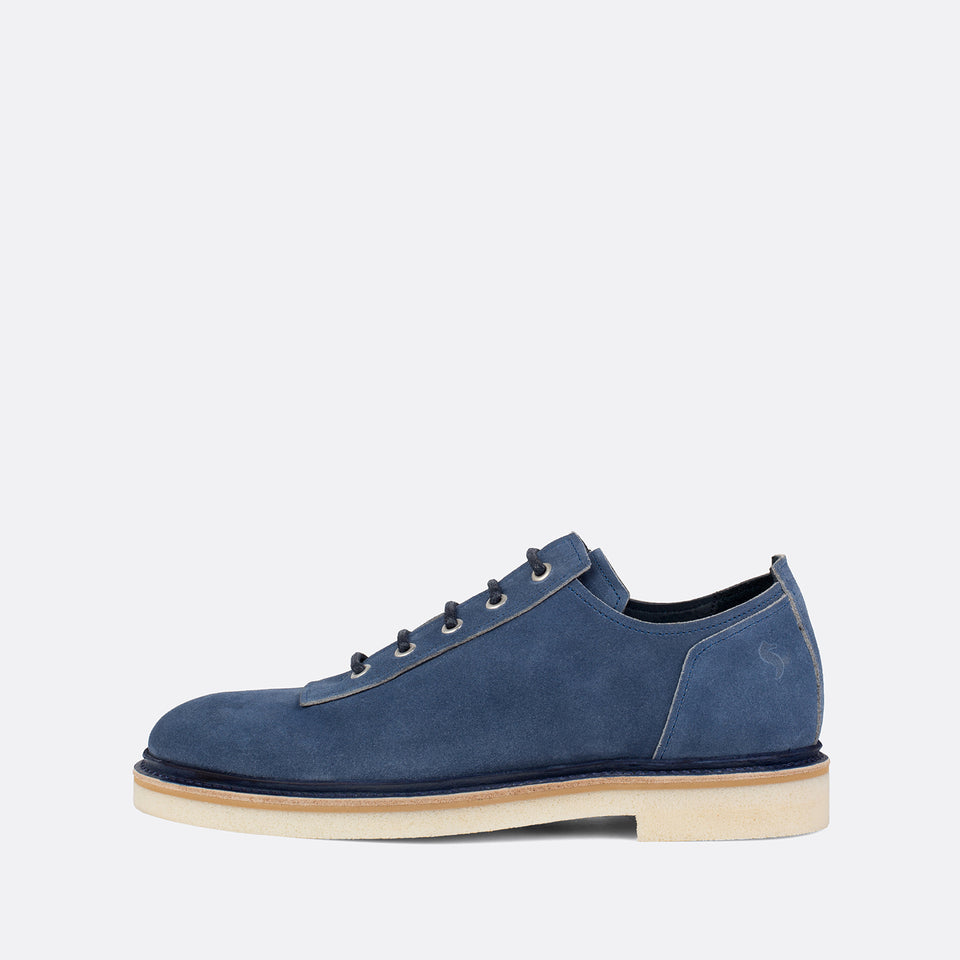 Blue Suede Derbies