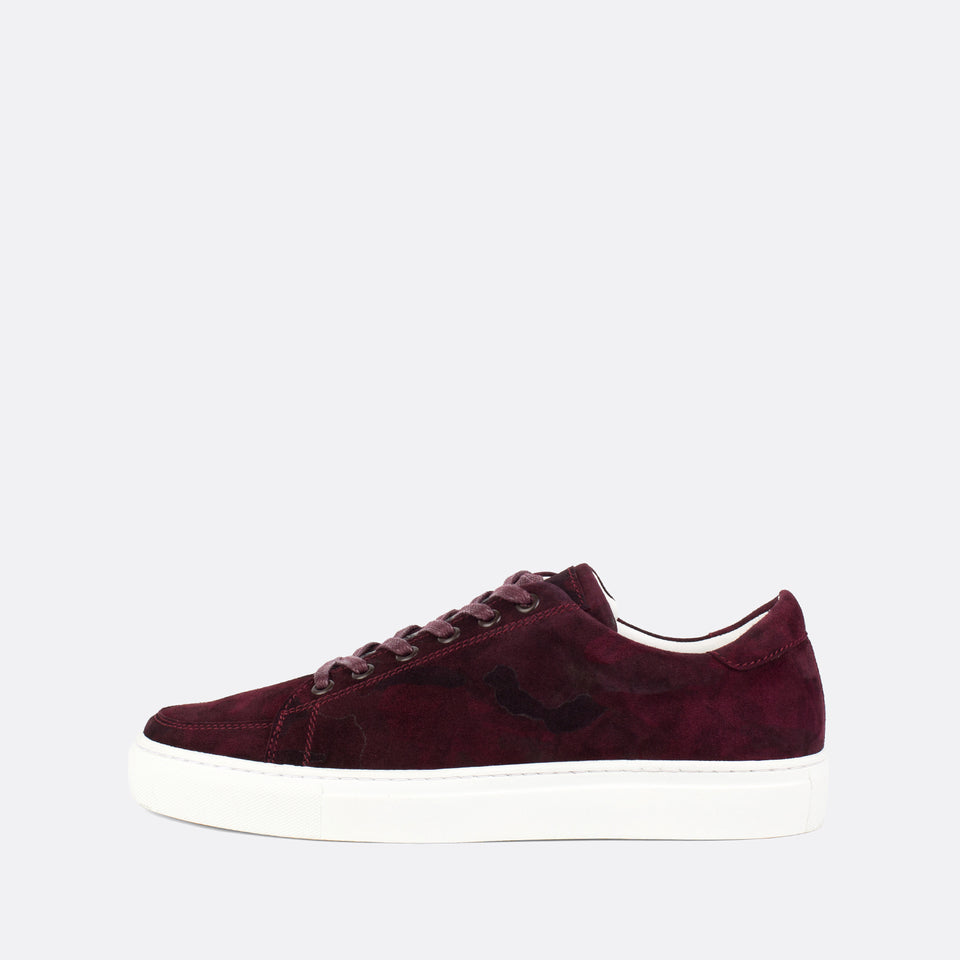 Burgundy Suede Sneakers