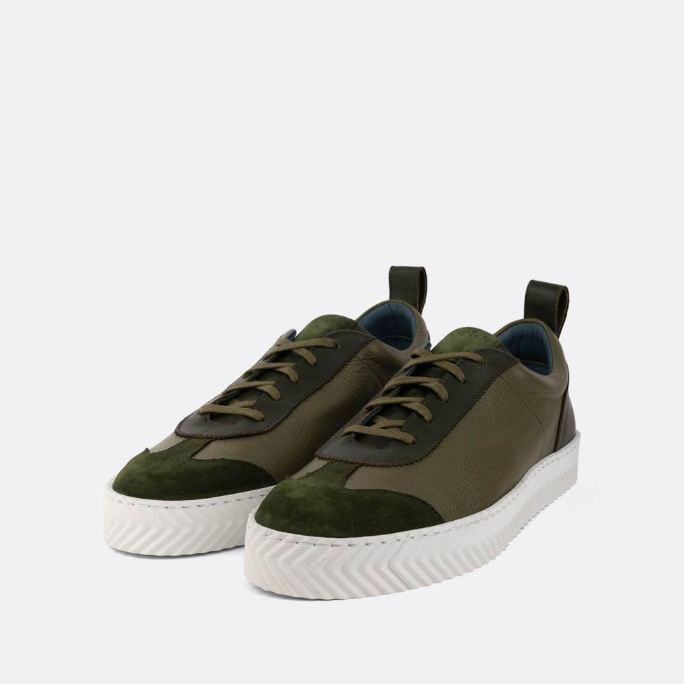 Green Retro Sneakers