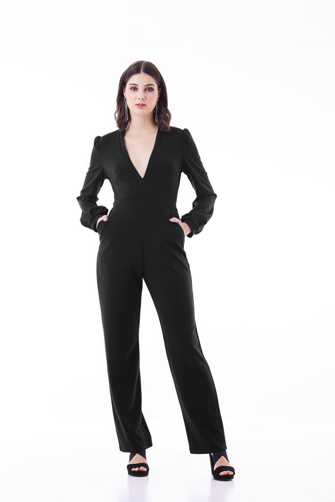 Dressy Long Sleeve Jumpsuit Sexy Cocktail Fall Outfit Romper