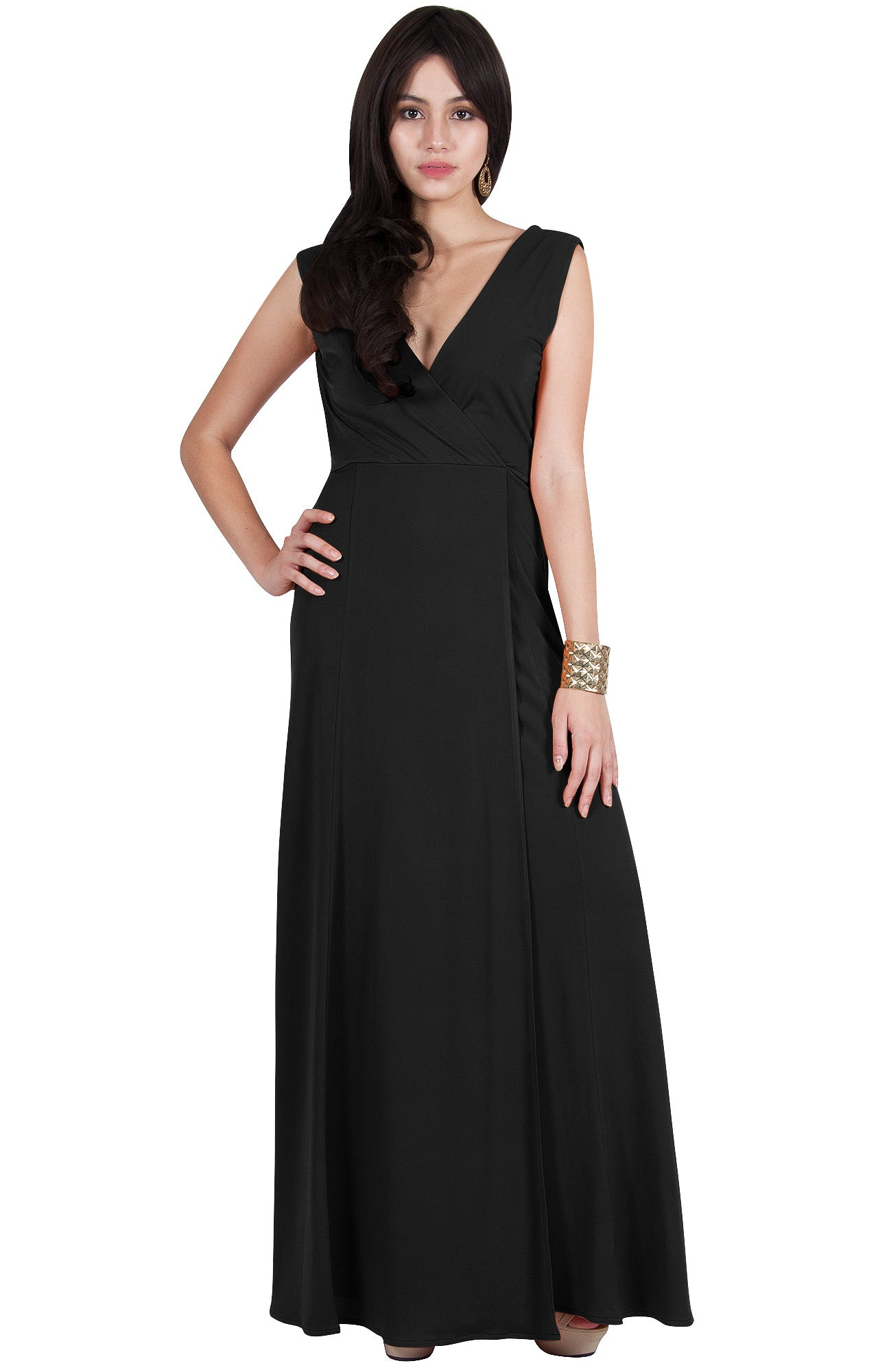 e97934827b2 Dressy Evening Maxi Dress Wedding Guest Vneck Formal. VZ92266   Maxi Dresses
