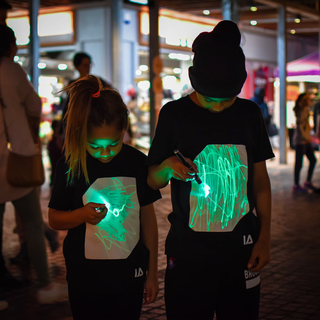 Kids Interactive Glow In The Dark T-shirt - All colours