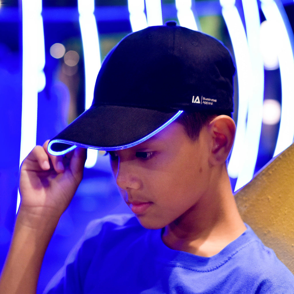 LED Light Up Baseball Cap in Blue