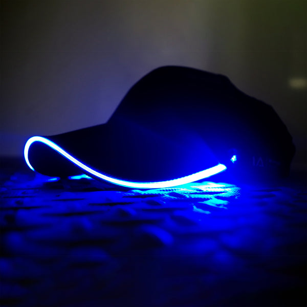 Adult LED Light Up Baseball Cap in Blue