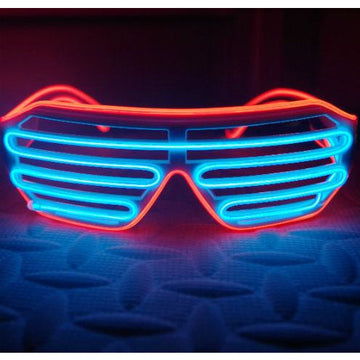 Blue & Red LED Light Up Glasses