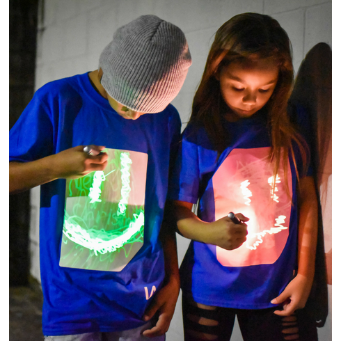 Super Glow T-shirt | Royal Blue & Pink