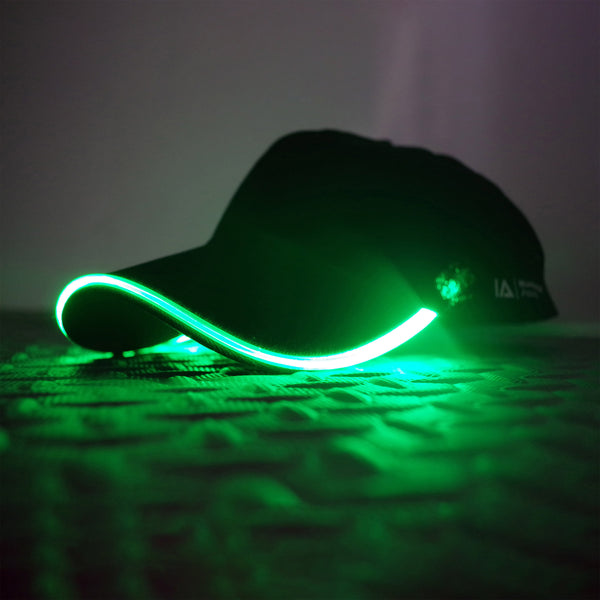Adult LED Light Up Baseball Cap in Green