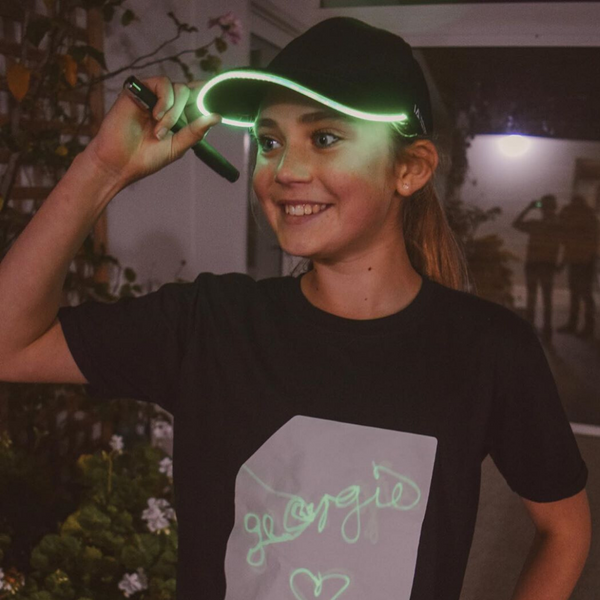 LED Light Up Baseball Cap in Green