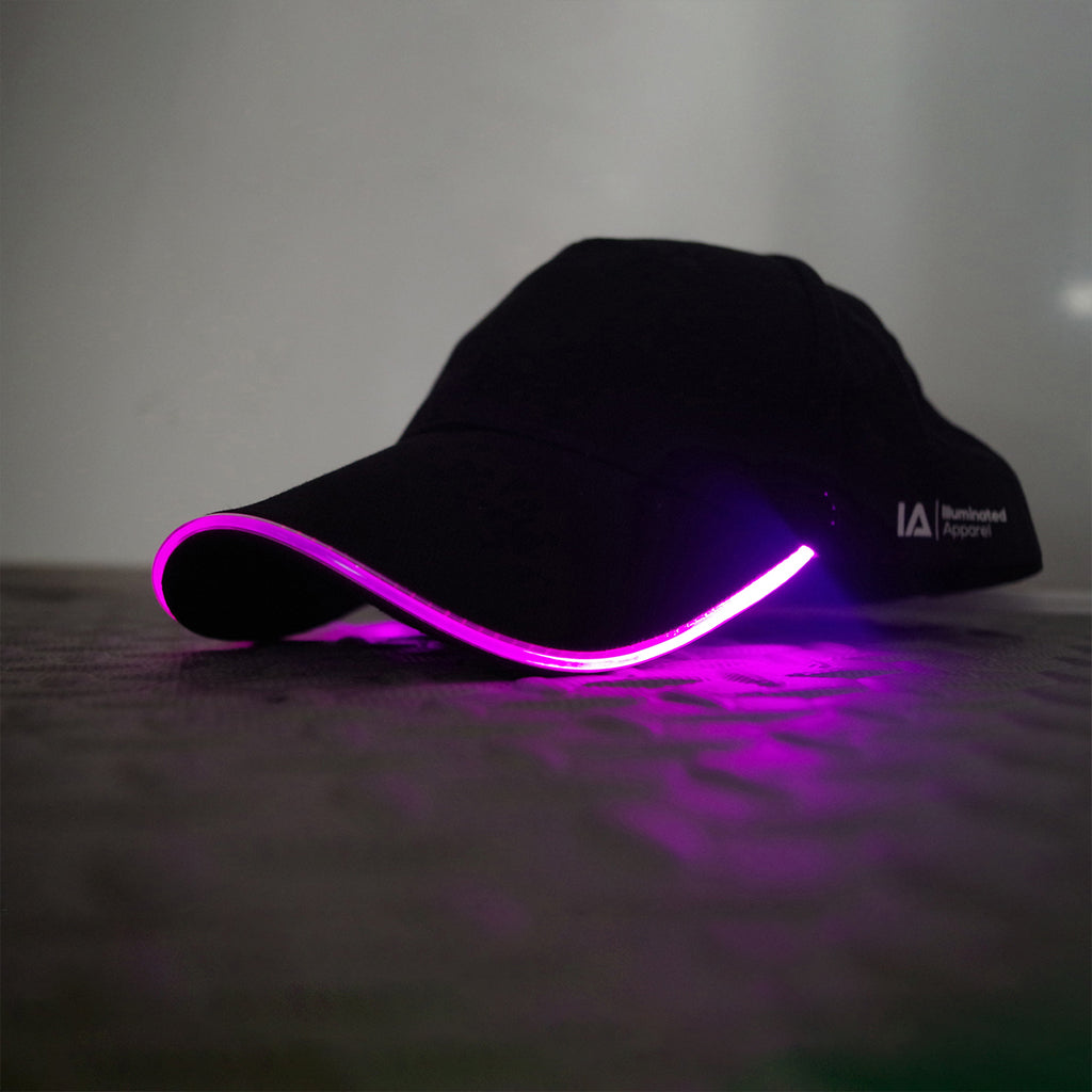 Adult LED Light Up Baseball Cap in Pink