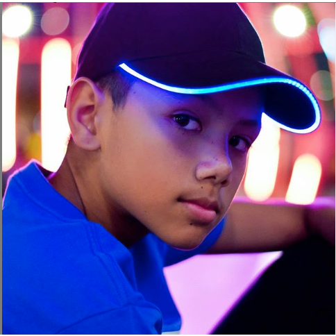 Blue LED Light Up Baseball Cap