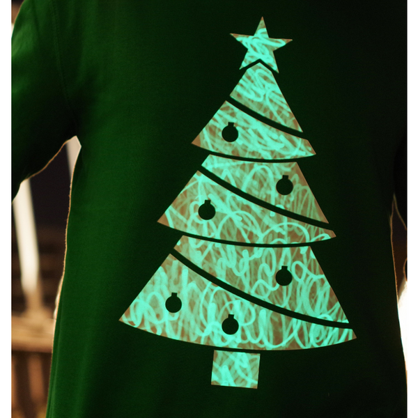 Interactive Glow In The Dark Christmas Tree Jumper