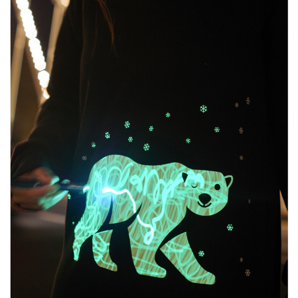 Interactive Glow In The Dark Polar Bear Christmas Jumper